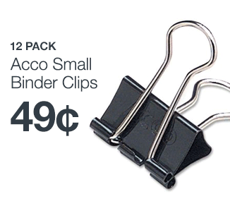 Acco Small Binder Clips