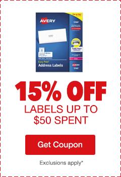 15% Off Labels