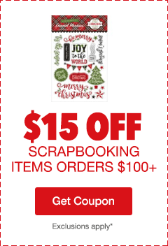$15 Off Scrapbooking