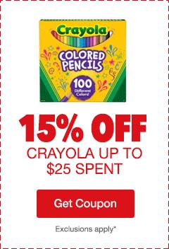 15% Off Crayola