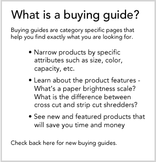 What is a buying guide? Buying guides help you find out what you want.