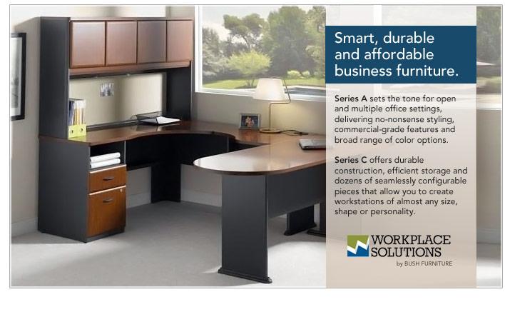 Bush brings durable, affordable business furniture