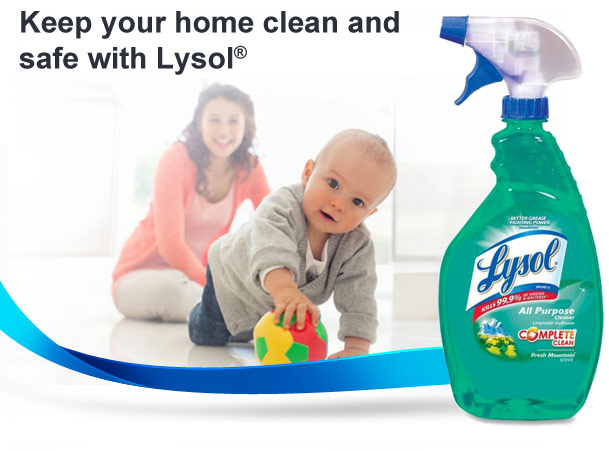 Keep your home clean and safe with Lysol