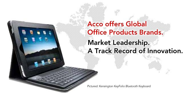 ACCO offers Global Office Product Brands.