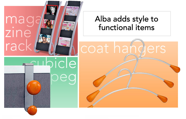 Alba adds style to functional items