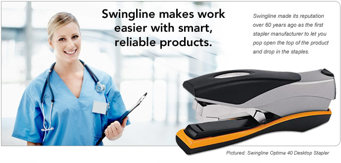 Swingline makes work easier with smart, reliable products.