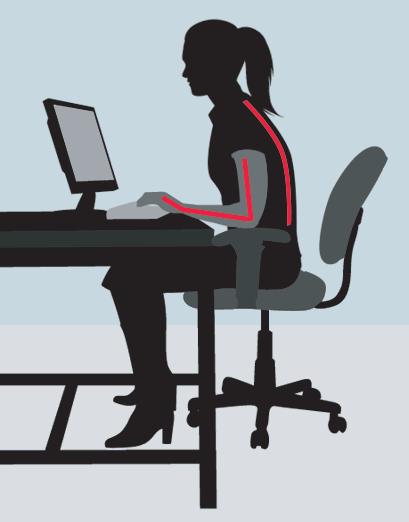 Stationary Desk Keyboard. No Keyboard Tray