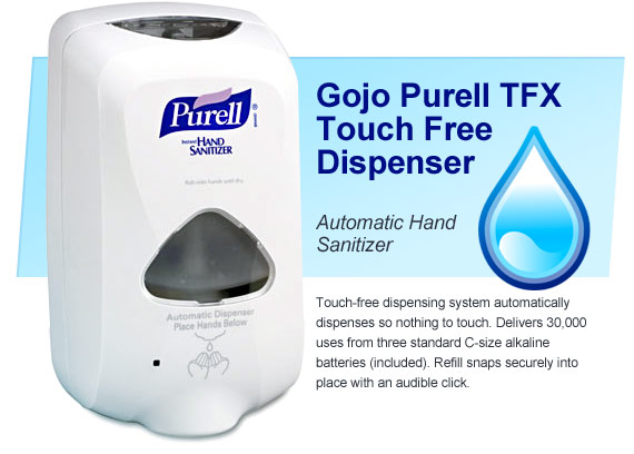 Purell Automatic hand santizer