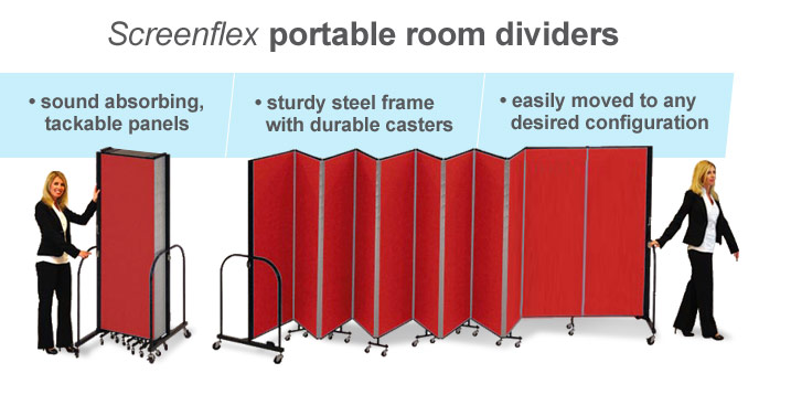 Screenflex room divider and portable wall