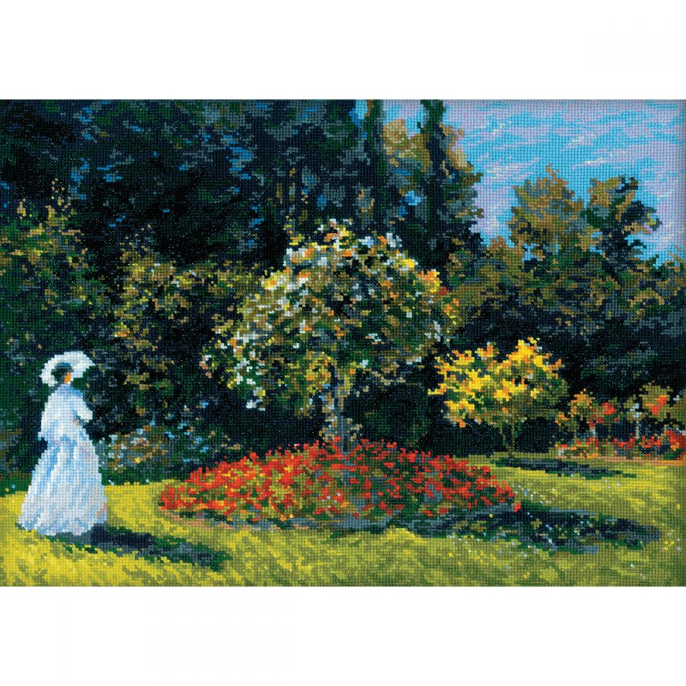 Woman In Garden After Monet's Painting Counted Cross Stitch -  RIOLIS, R1225