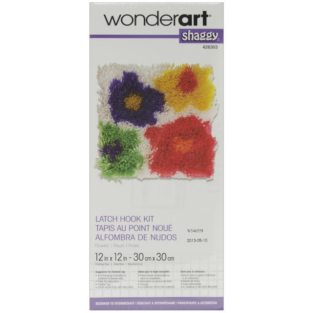 Wonderart Shaggy Latch Hook Kit Flowers Design Officesupply Com