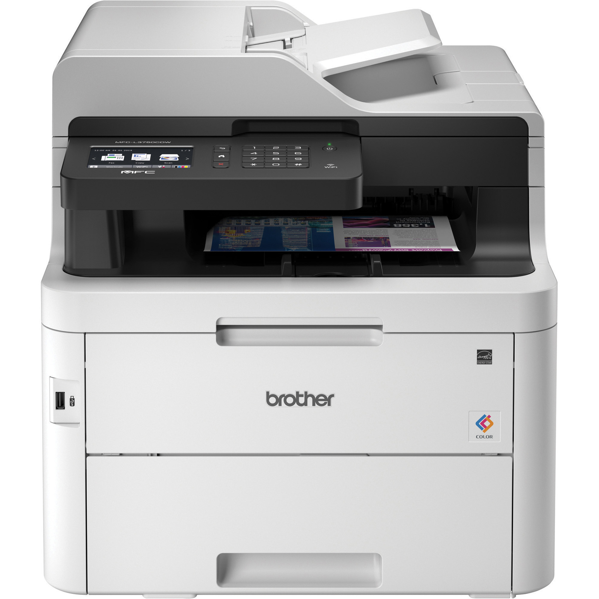 Brother Mfc L3750cdw Compact Digital Color All In One Printer Providing Laser Quality Results With 3 7 Color Touchscreen Wireless And Duplex Printing Officesupply Com