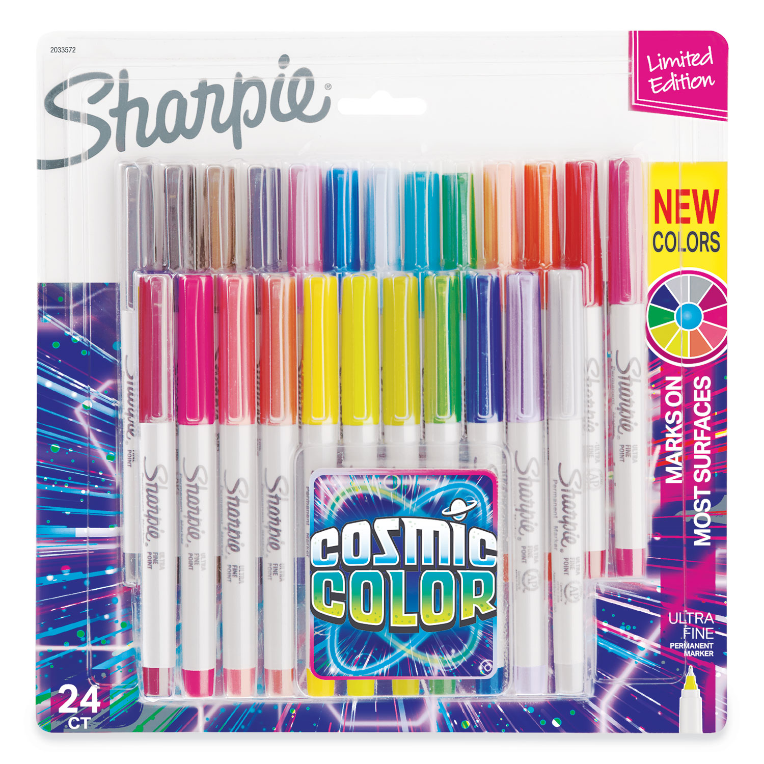 Ultra Fine Point Limited Edition Permanent Markers 1 Set of 24-Count Cosmic Color