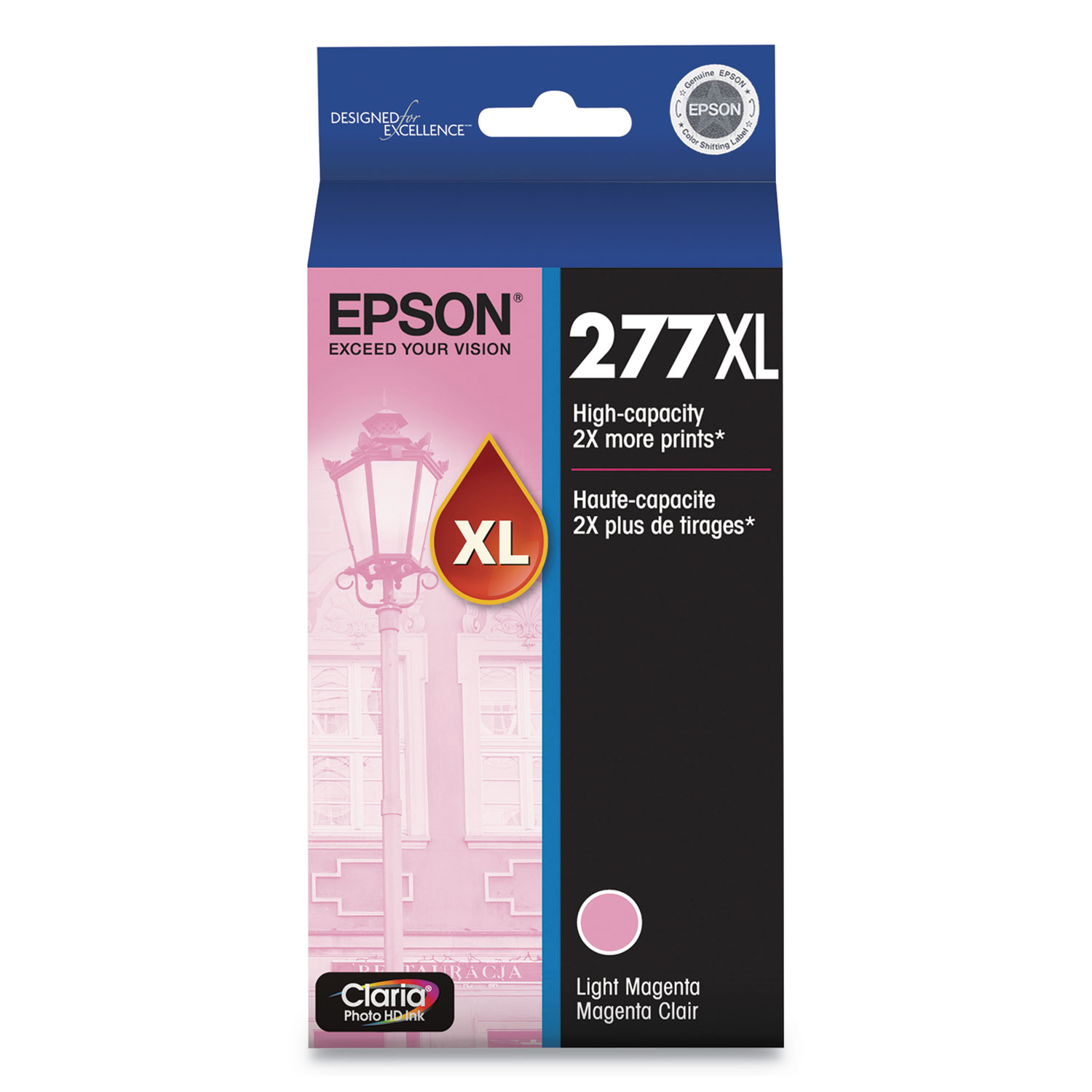 Epson T277XL620S (277XL) Claria High-Yield Ink, 740 Page-Yield, Light Magenta