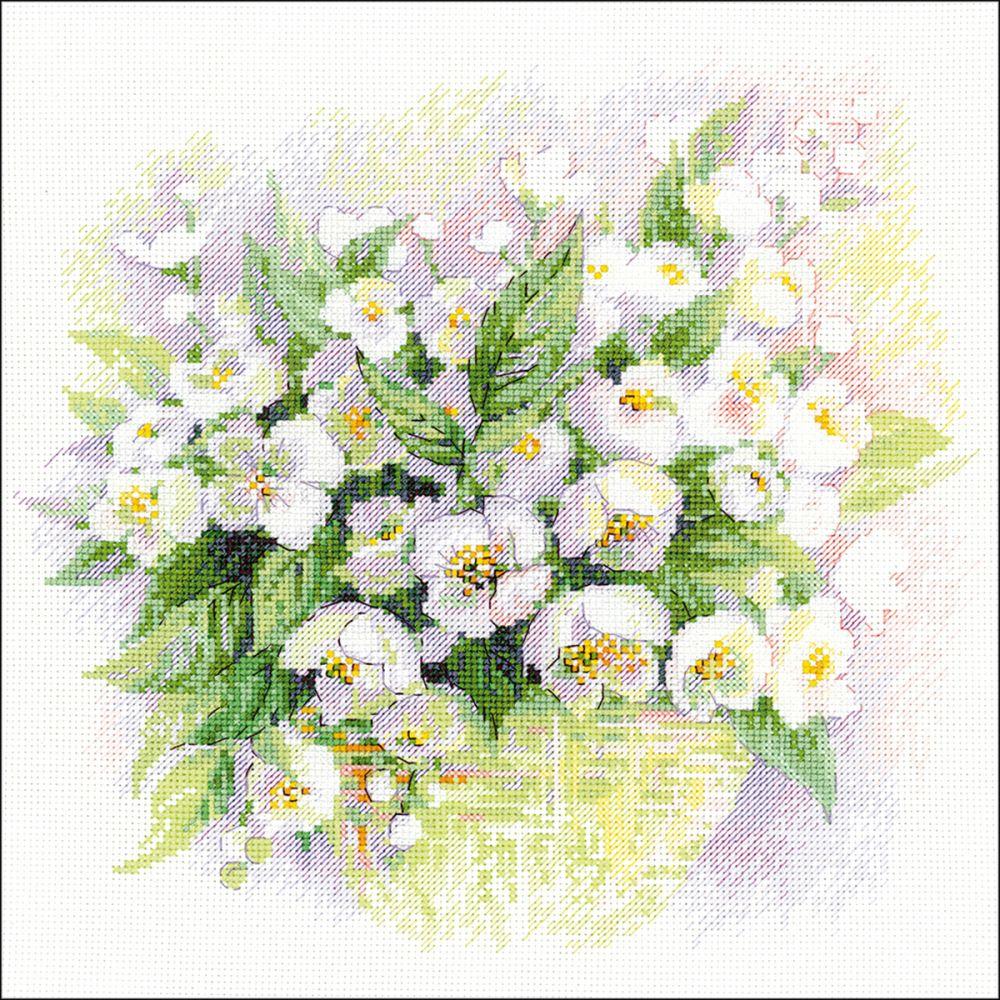 Riolis Watercolour Jasmine Counted Cross Stitch Kit -  R1467