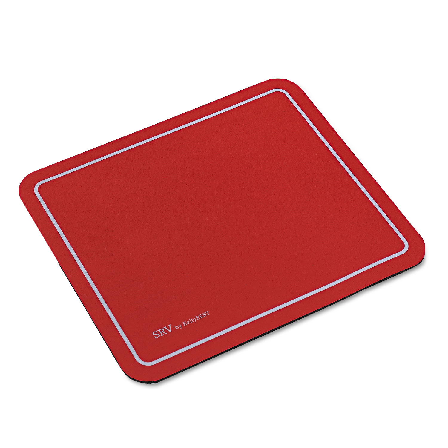 Kelly Computer Supply SRV Optical Mouse Pad, Nonskid Base, 9 x 7-3/4, Red