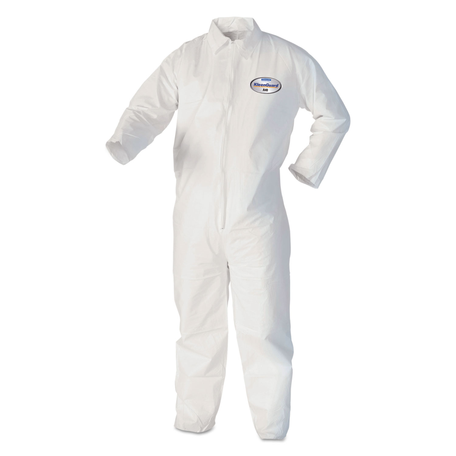 KleenGuard* A40 Coveralls, X-Large, White