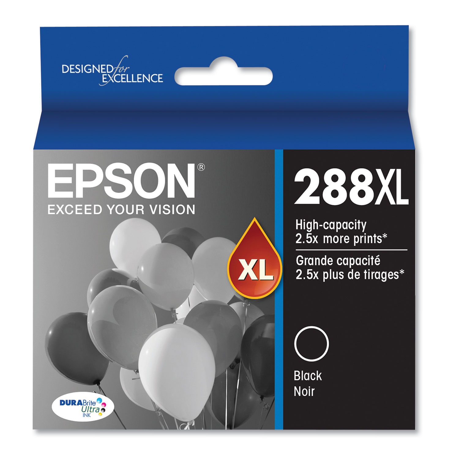 Epson T288XL120S (288XL) High-Yield Ink, 450 Page-Yield, Black