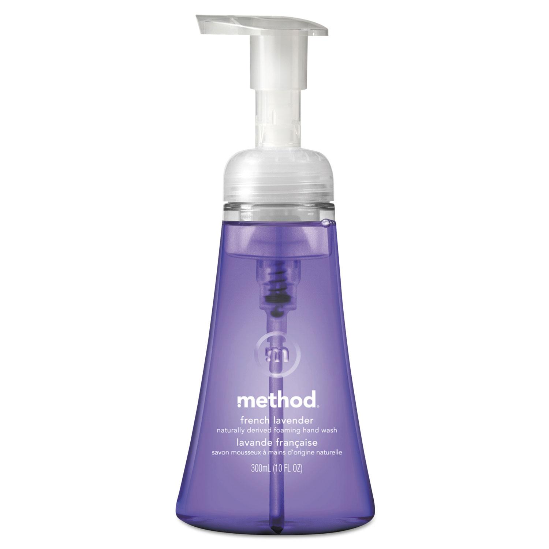 Method Foaming Hand Wash, French Lavender, 10 oz Pump Bottle, 6/Carton