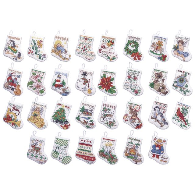 Tiny Stocking Ornaments Counted Cross Stitch Kit