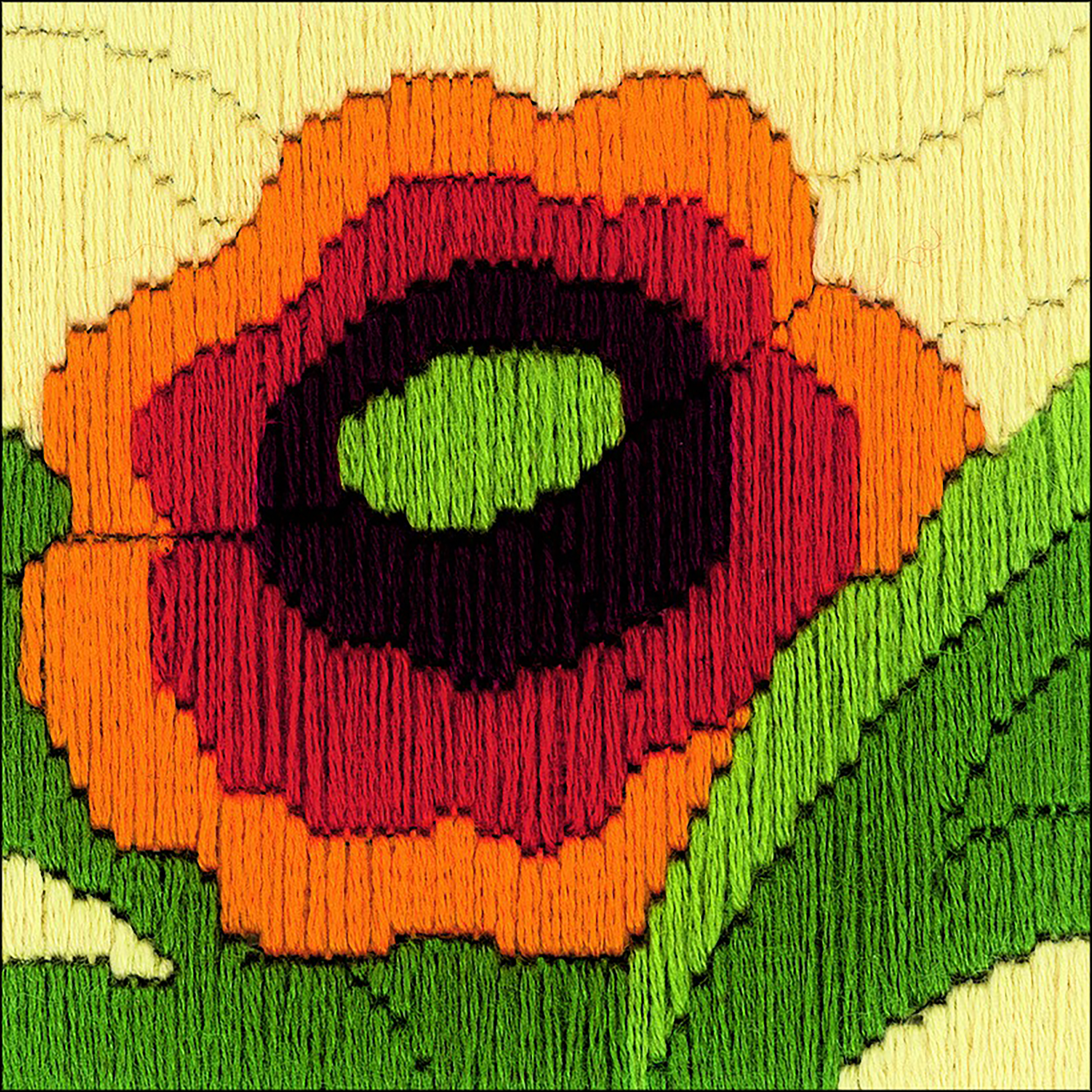 Poppies Counted Cross Stitch Kit -  RIOLIS, R1632