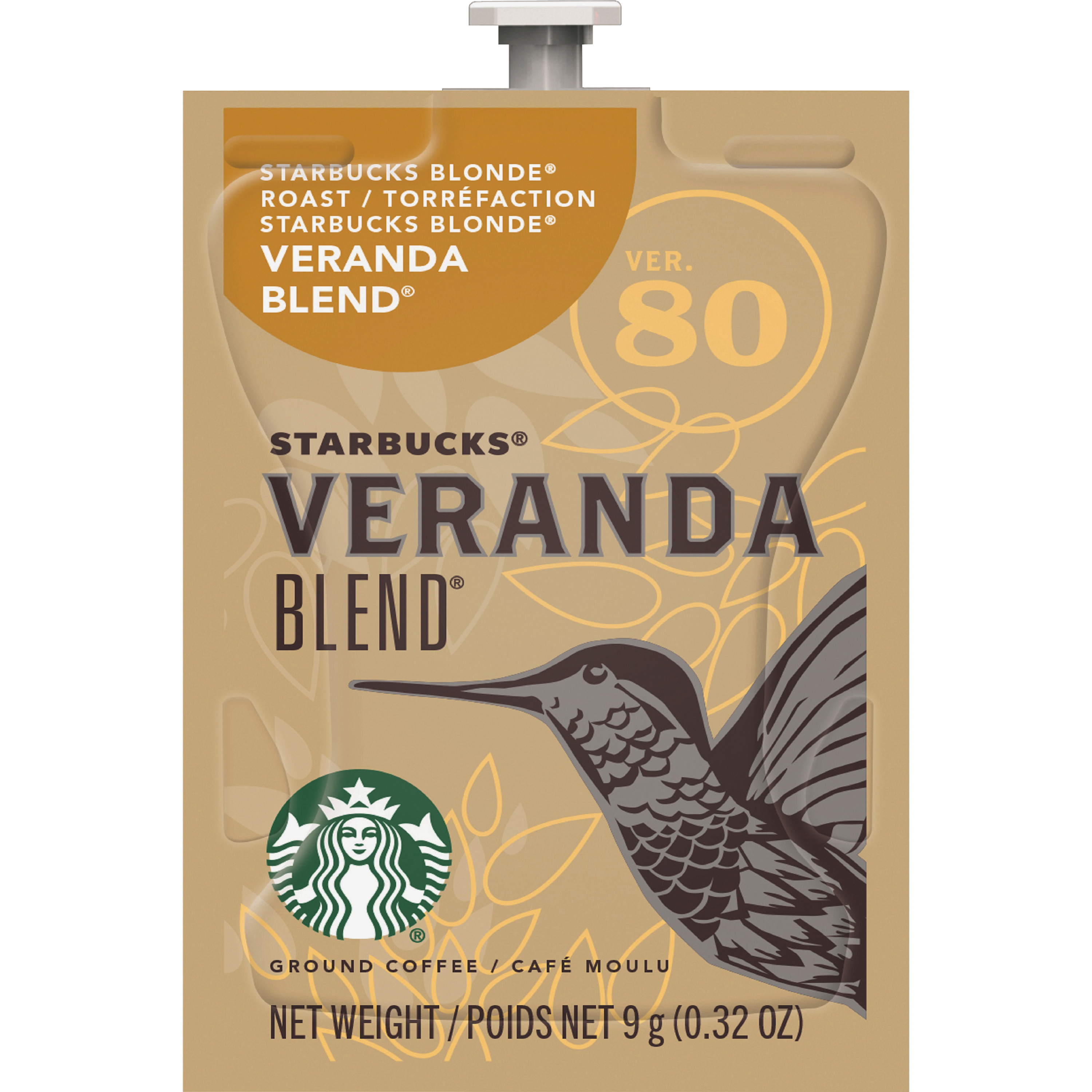 Starbucks Freshpack Coffee, Veranda Blend, 0.32 Oz, Pack Of 80