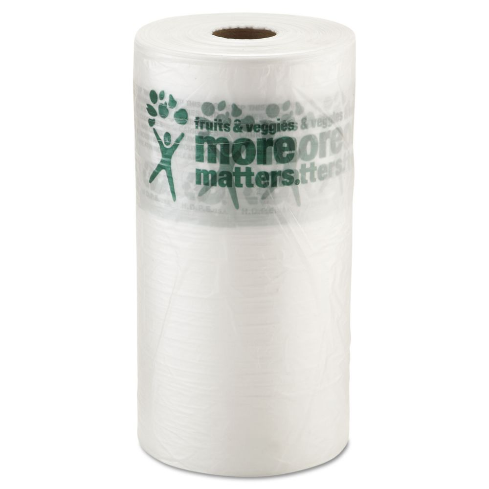 """Inteplast Group Produce Bags, 9 microns, 10"""" x 15"""", Clear, 1400/Roll, 4 Rolls/Carton"""