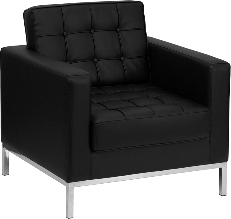 CHEAP Flash Furniture Contemporary Black Leather Chair (ZB-LACEY-831-2-CHAIR-BK-GG) LIMITED