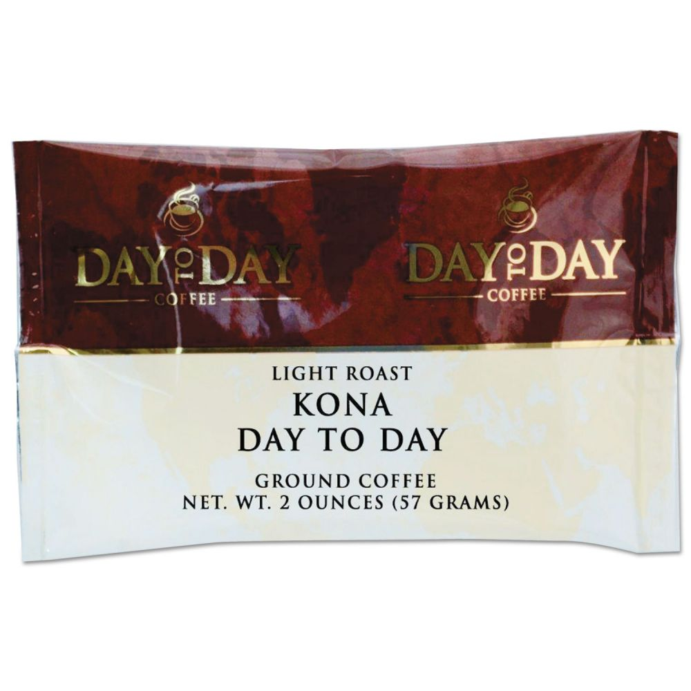Day to Day Coffee 100% Pure Coffee, Kona Blend, 2 oz Pack, 42/Carton