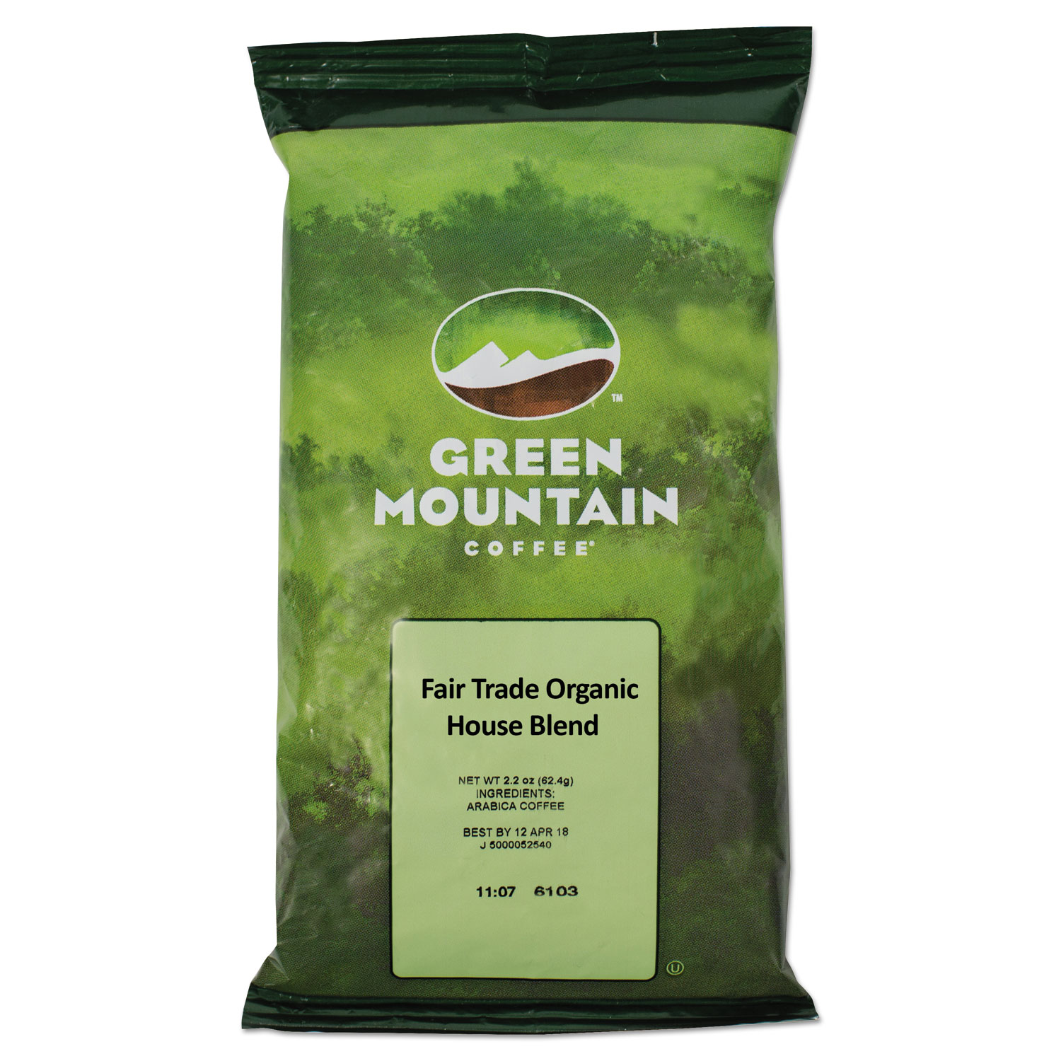 Green Mountain Coffee Roasters Fair Trade Organic House Blend Coffee Fractional Packs 2.5oz 50/Carton (Green Mountain Coffee Roasters 4493)