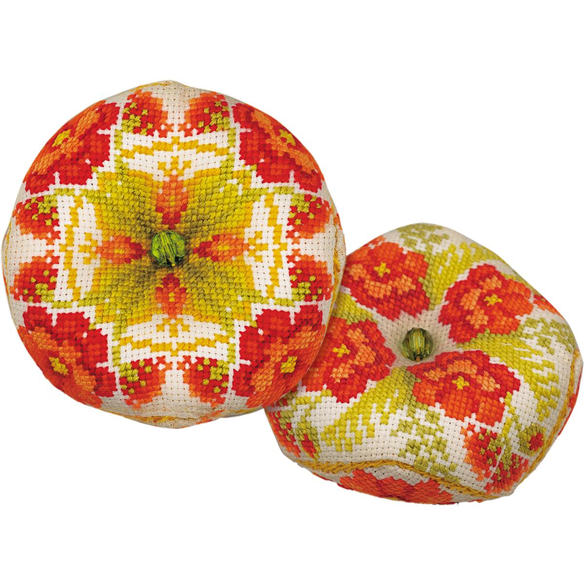 Biscournu Poppies Counted Cross Stitch Kit -  RIOLIS, R1620AC