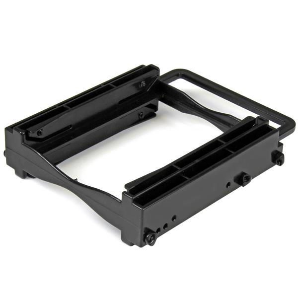 StarTech.com Dual 2.5 SSD/HDD Mounting Bracket for 3.5 Drive Bay - Tool-Less Installation - 2-Drive Adapter Bracket for Desktop Computer