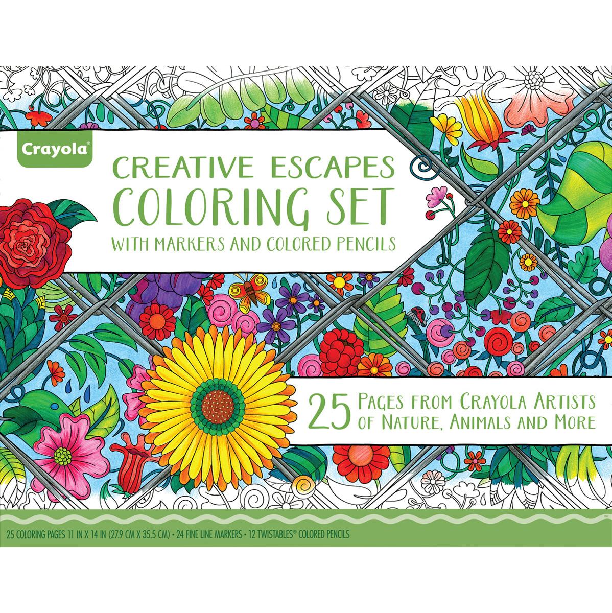 Crayola Coloring Set W/Markers & Colored Pencils - NOTM403288 ...
