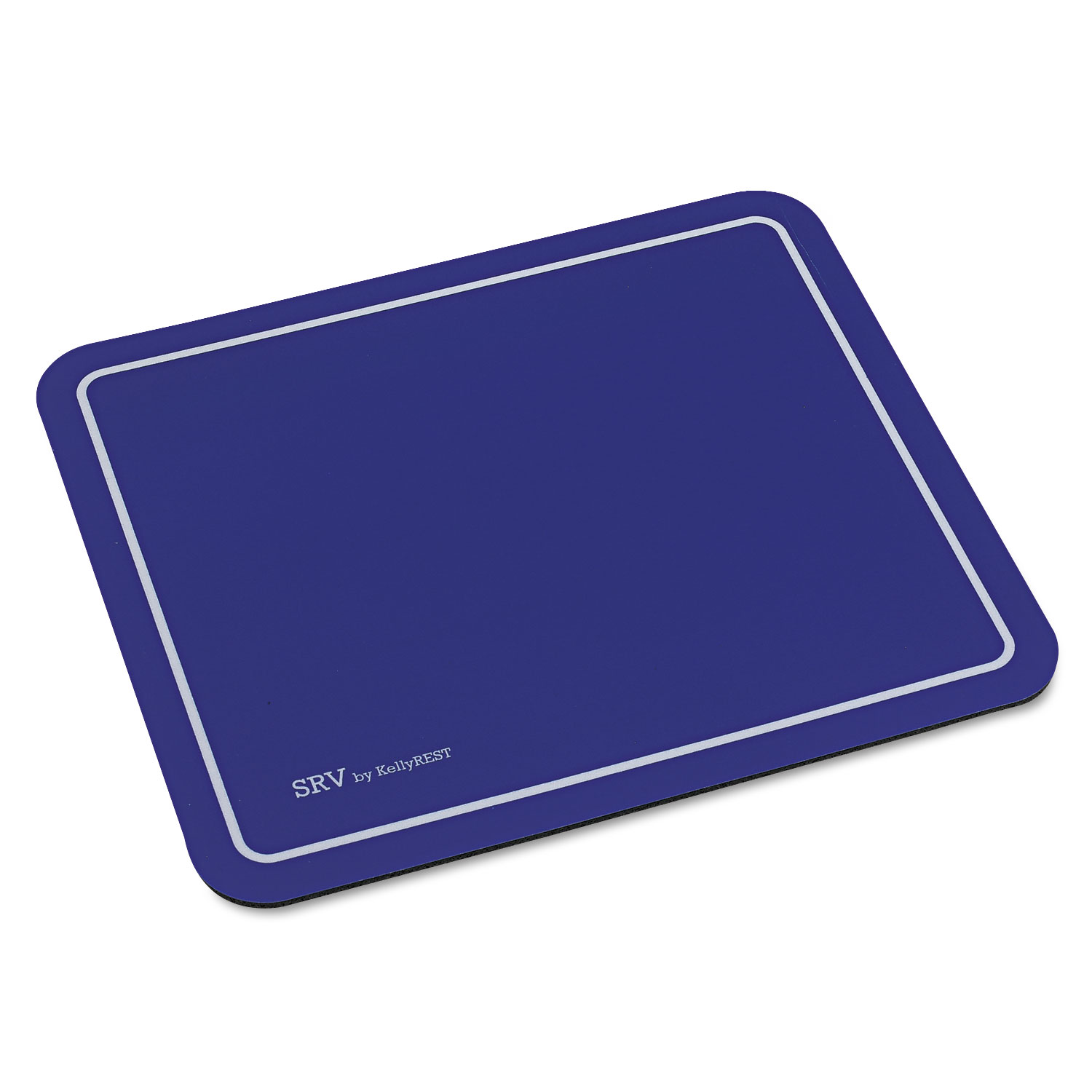 Kelly Computer Supply SRV Optical Mouse Pad, Nonskid Base, 9 x 7-3/4 , Blue