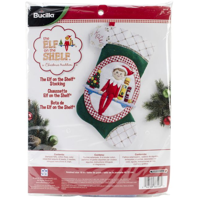 NOTM107412 - Elf On The Shelf Scout Elf Stocking Felt Applique Kit