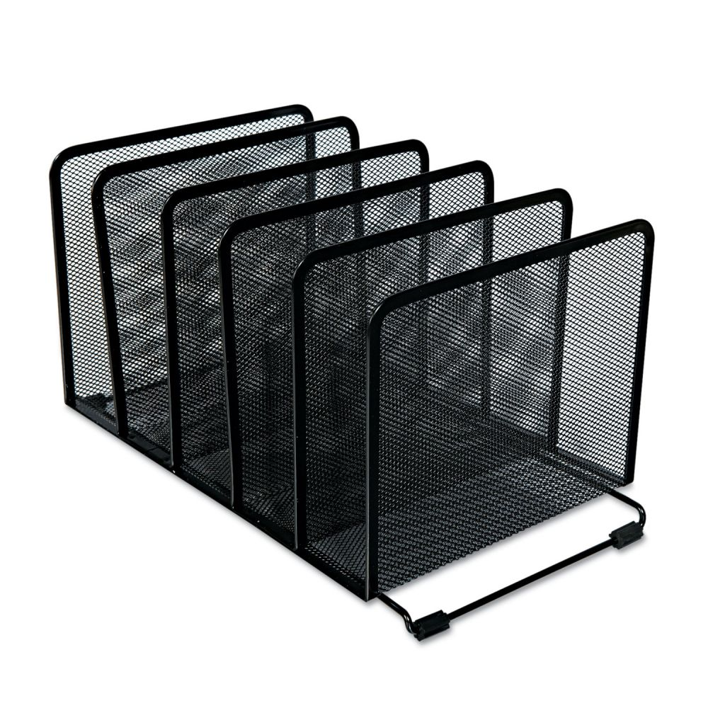Universal Deluxe Mesh Stacking Sorter 5 Sections Letter To Legal Size Files 14 63 X 8 13 X 7 5 Black Officesupply Com