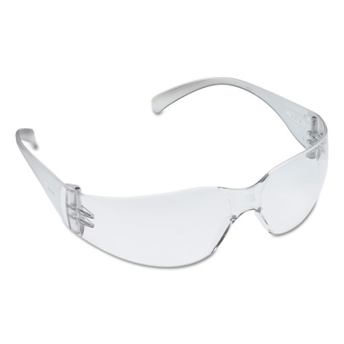 3M Virtua Protective Eyewear, Clear Frame, Clear Hard-Coat Lens, 20/Carton
