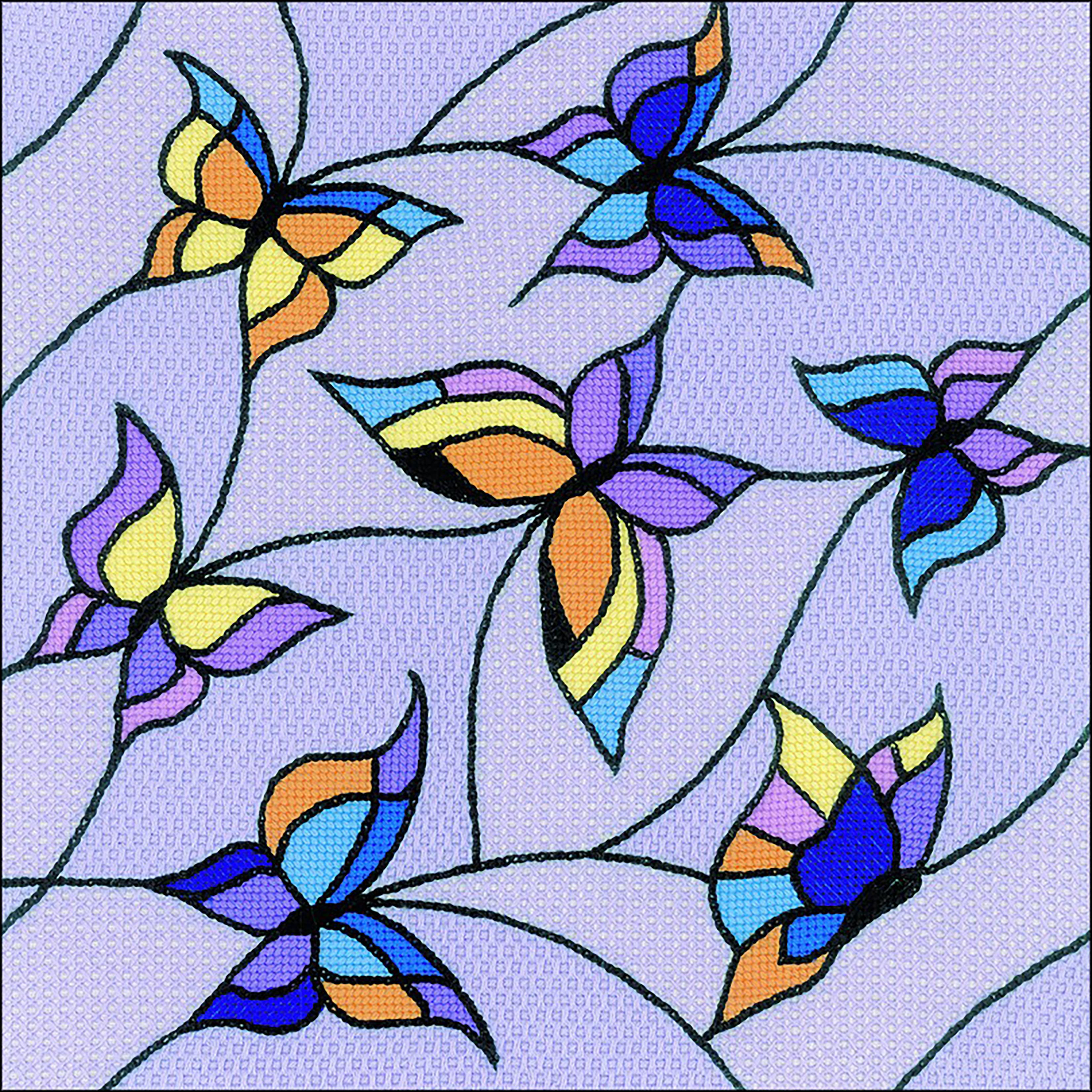 Butterflies Cushion Stamped Cross Stitch Kit -  RIOLIS, R1625