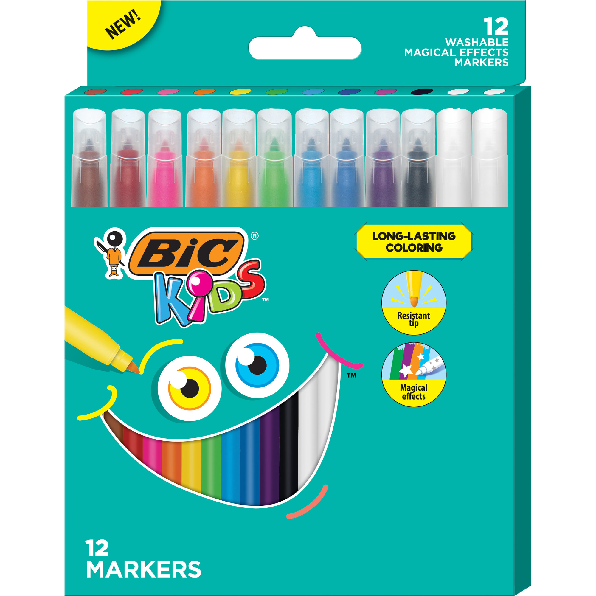 Broad Tip Assorted Colors Scholastic Markers Pack Of 10