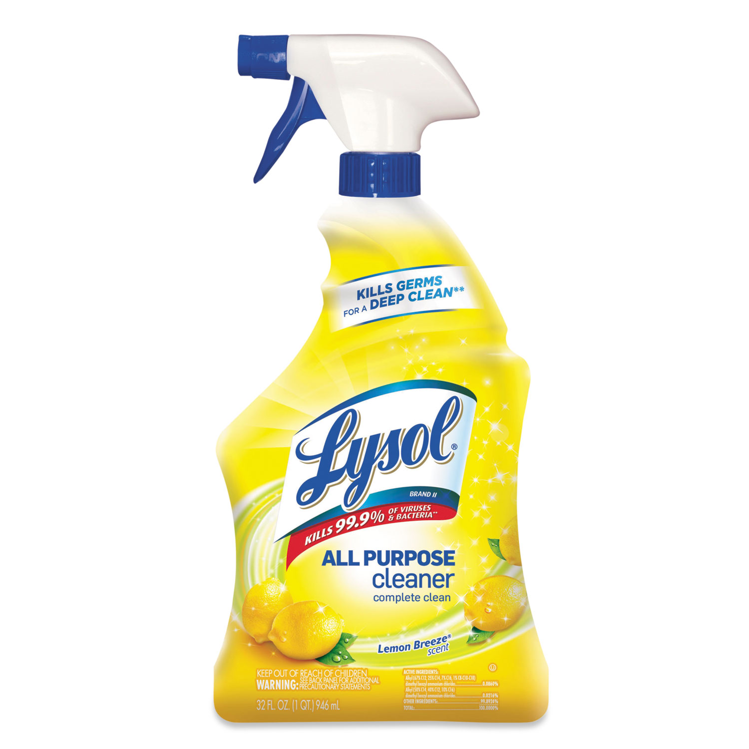 Lysol All Purpose Cleaner Spray, Lemon Breeze, 32 oz