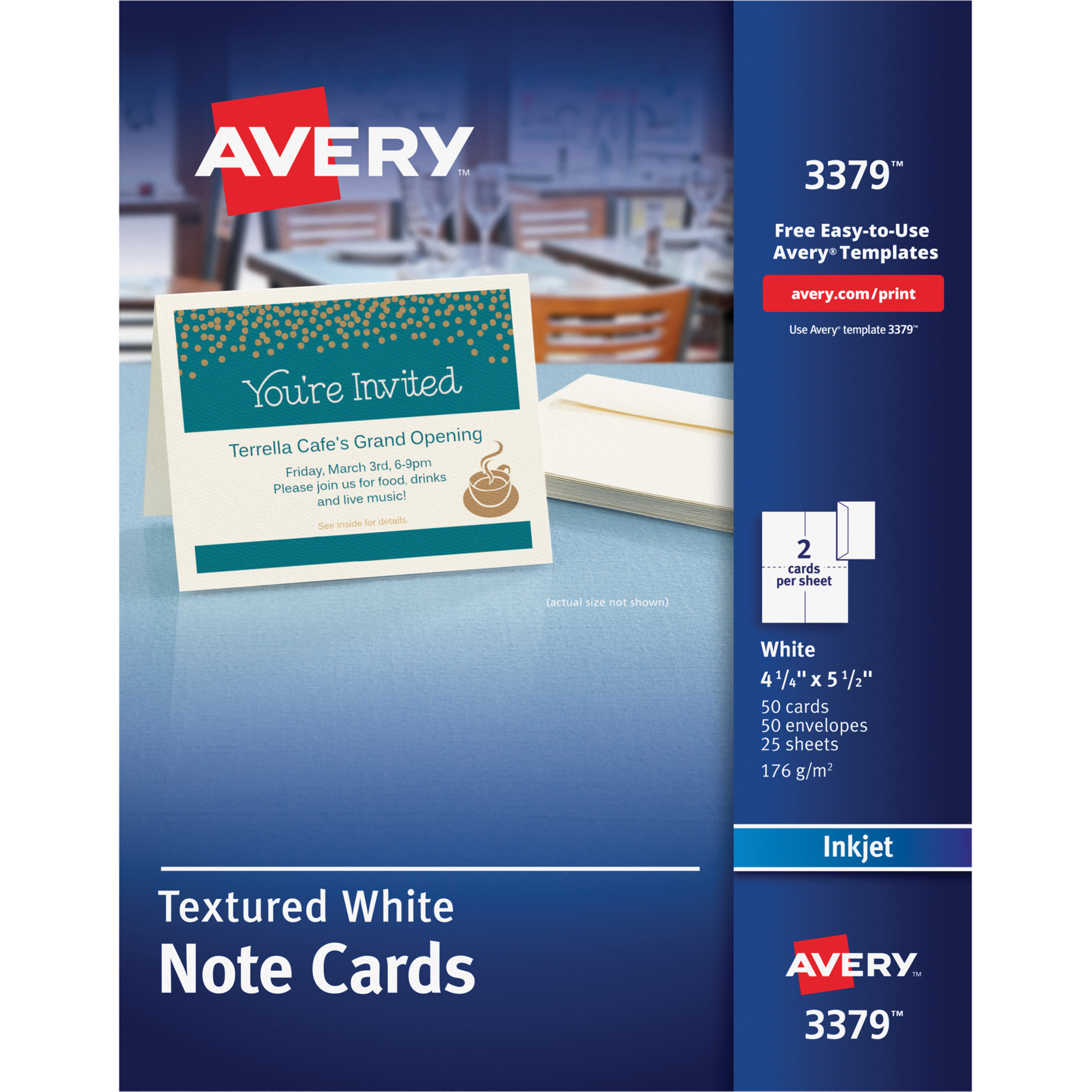 Avery Textured Note Cards
