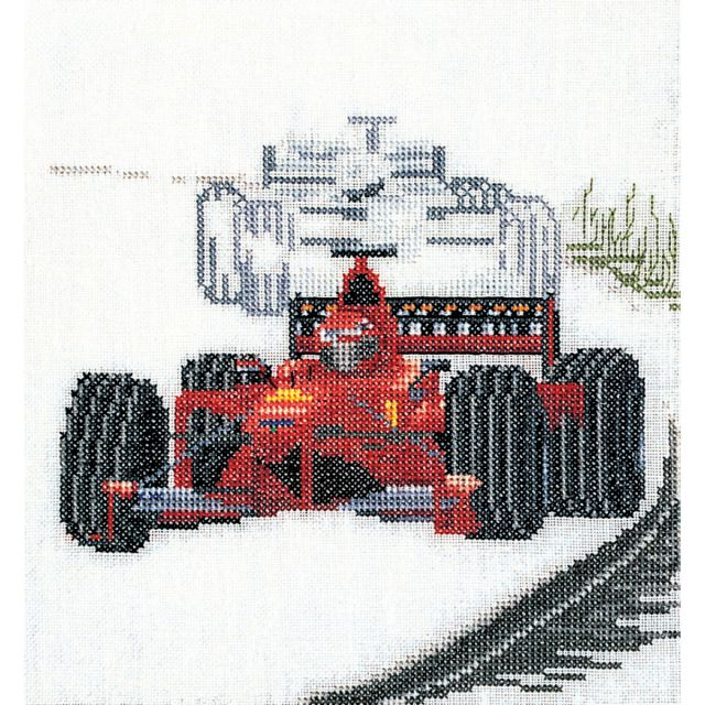 Motor Racing On Aida Counted Cross Stitch Kit -  Thea Gouverneur, TG3052A