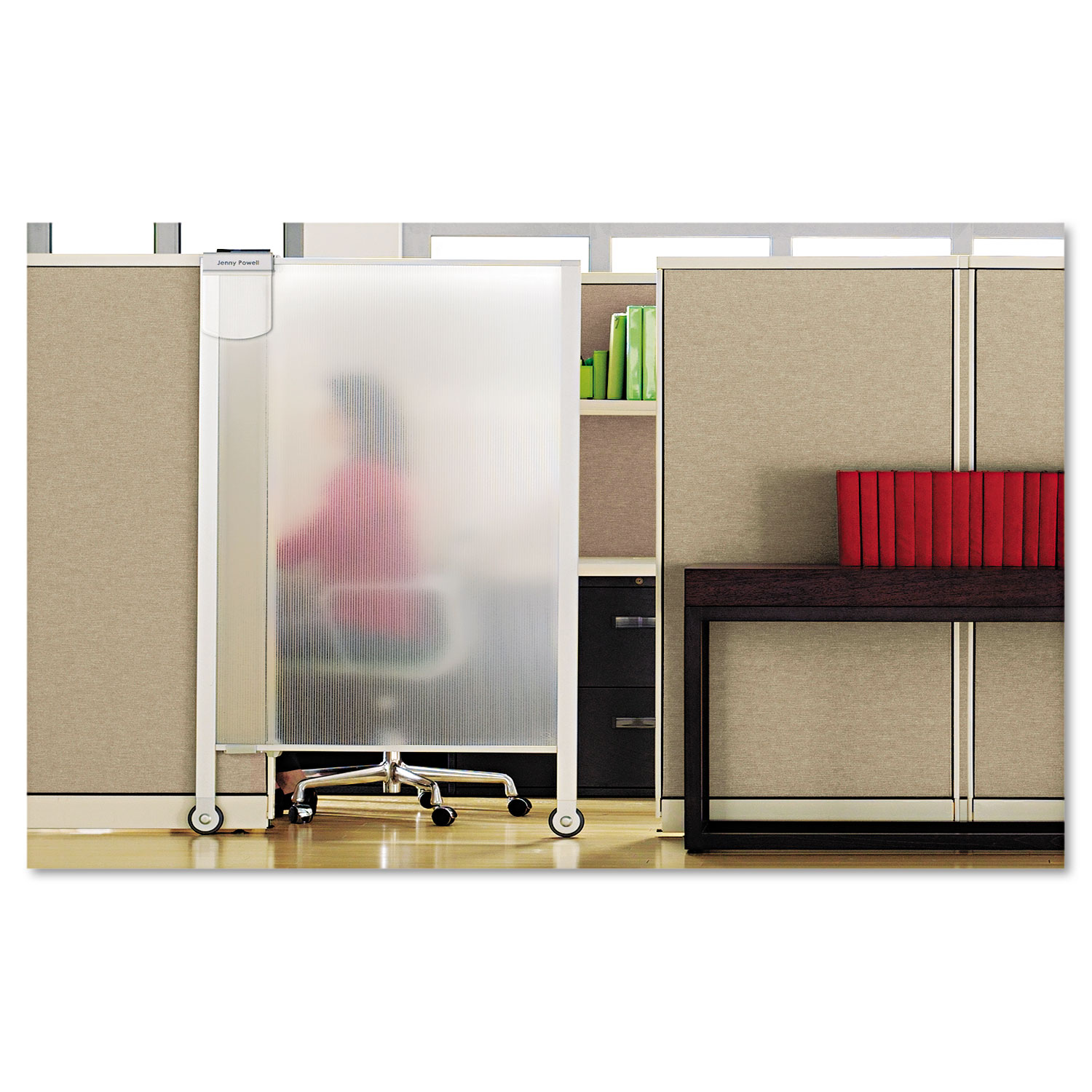 screen panel clear cubicle silver quartet furniture premium partition officesupply x com doors workstation systems accessories privacy translucent organizers door