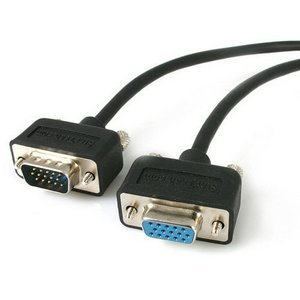 StarTech.com 15 ft Low Profile High Resolution Monitor VGA Extension Cable HD15 M/F