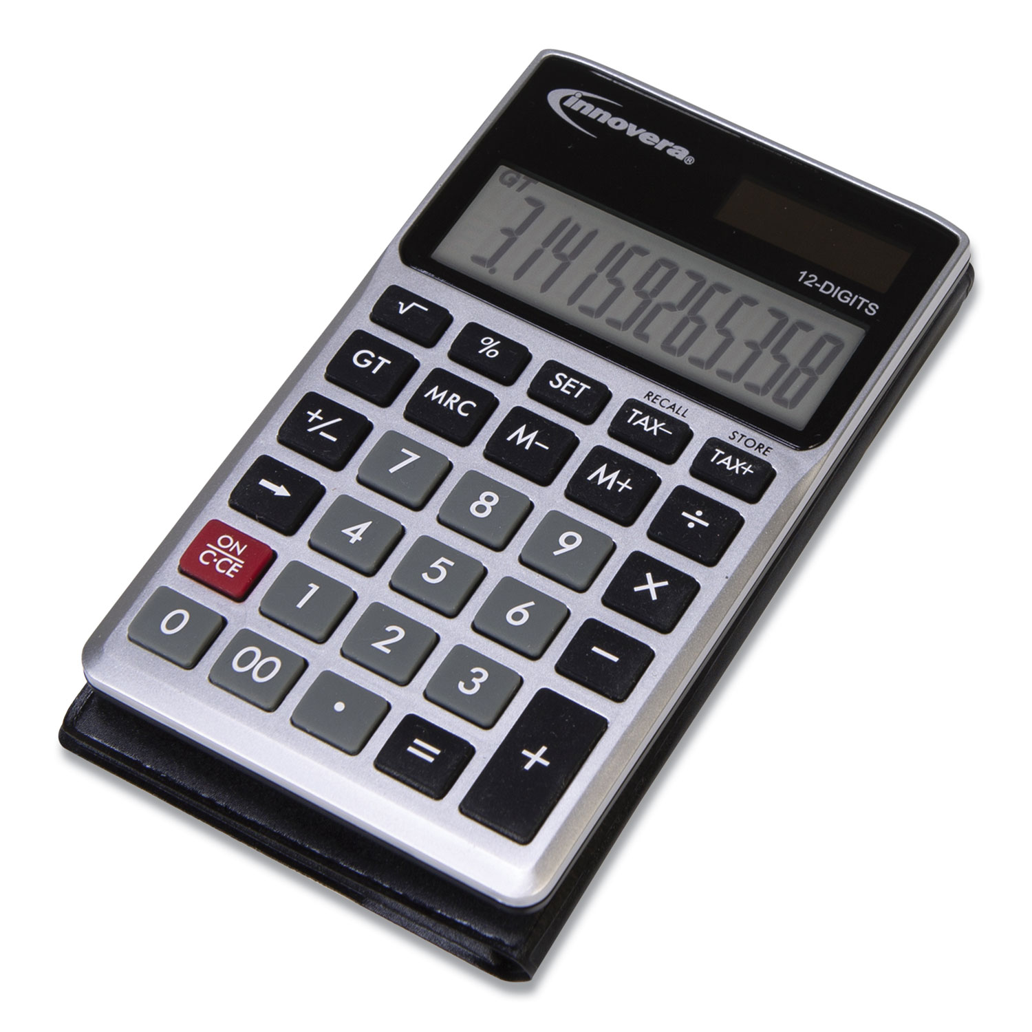 Innovera 15922 Pocket Calculator, Dual Power, 12-Digit LCD Display