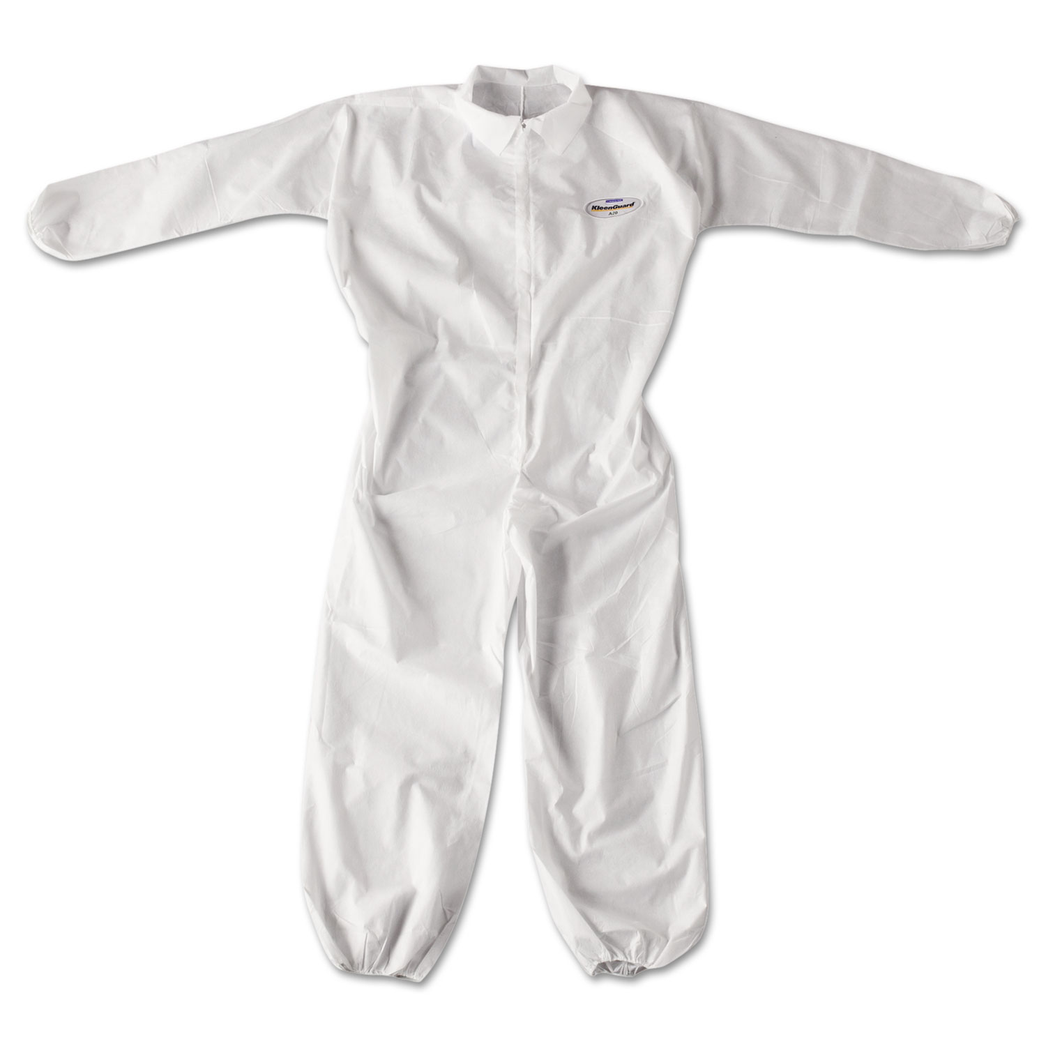 KleenGuard* A20 Breathable Particle Protection Coveralls, Zip Closure, XL, White