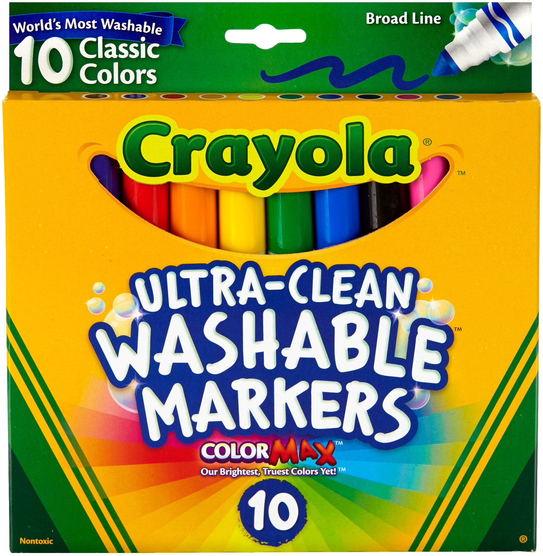Crayola Ultra-Clean Color Max Broad Line Washable Markers
