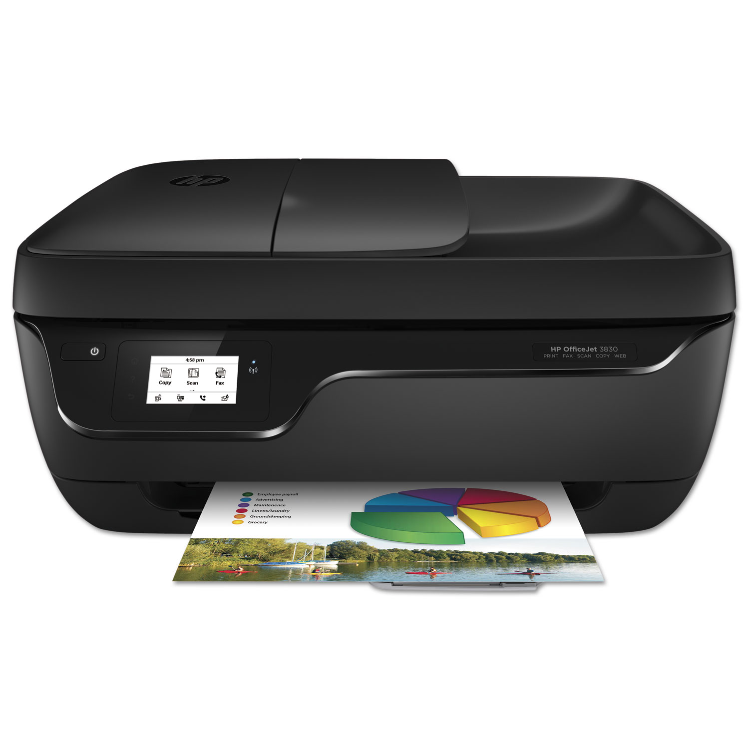 HP Officejet 3830 All-in-One Printer, Copy/Fax/Print/Scan