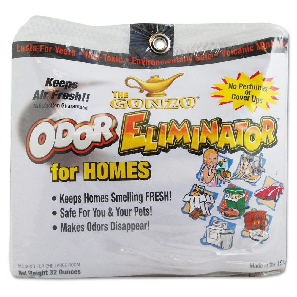 Gonzo Odor Eliminator, Volcanic Rocks, 32 oz Bag, 6/Carton