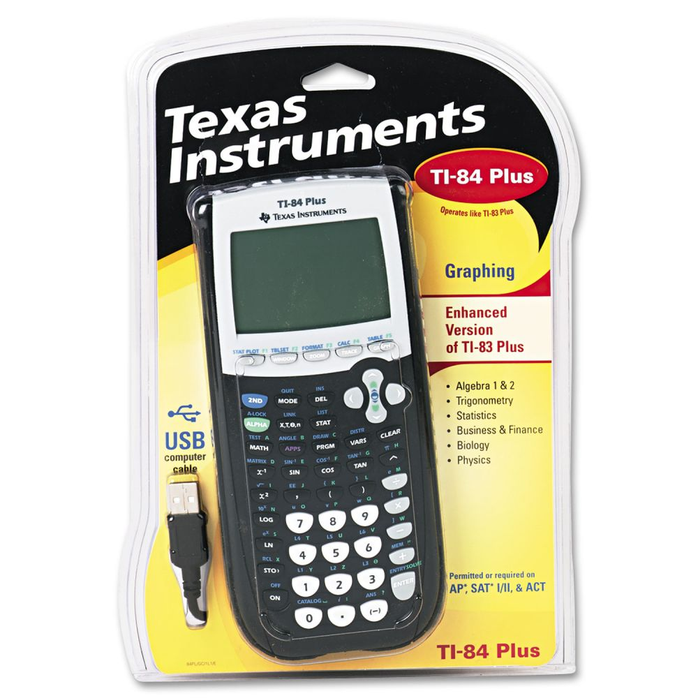 Texas Instruments TI-84Plus Programmable Graphing Calculator, 10-Digit LCD